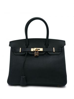 Niebieska torebka skórzana Hermes