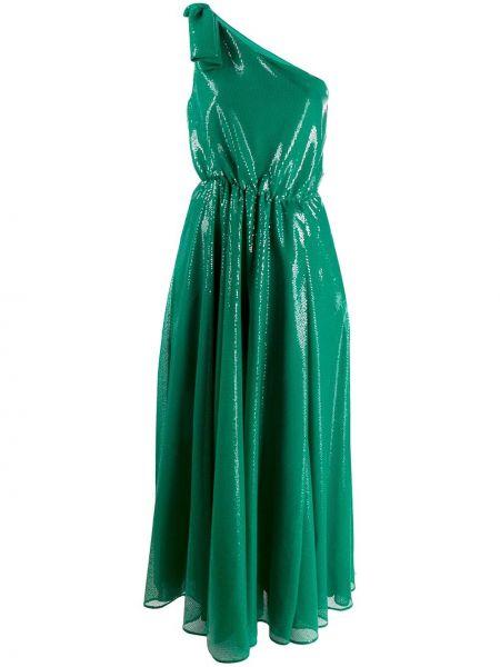 Платье с открытыми плечами зеленый Msgm