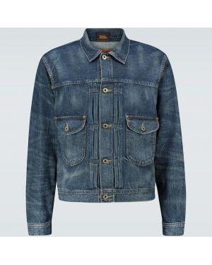 Синяя джинсовая куртка винтажная с декоративной отделкой прозрачная Rrl