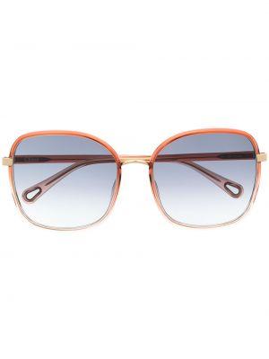 Niebieska złota oprawka do okularów Chloé Eyewear