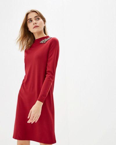 Платье бордовый прямое Savage