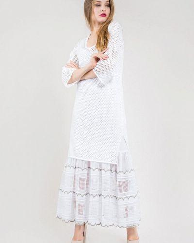Повседневное белое повседневное платье Maxa