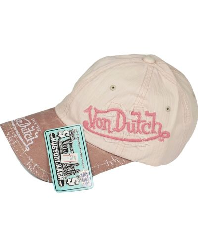 Кепка винтажная - розовая Von Dutch