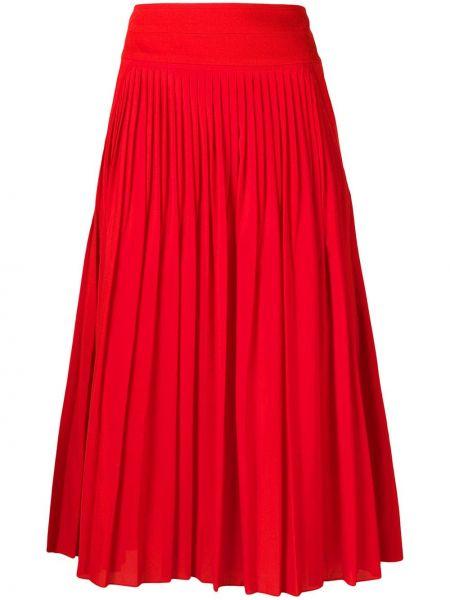 Плиссированная юбка с завышенной талией с карманами Givenchy