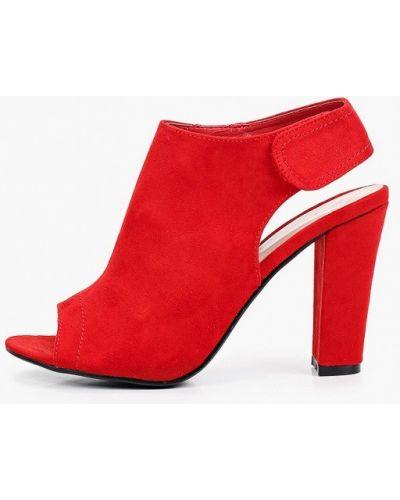 Текстильные красные босоножки Queen Vivi