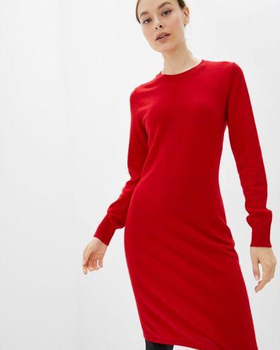 Красное платье осеннее United Colors Of Benetton