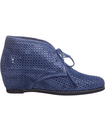 Кожаные ботинки на каблуке с перфорацией Pakerson