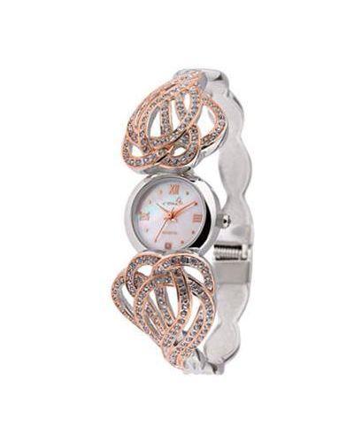 Кварцевые часы с бриллиантом с круглым циферблатом Le Chic
