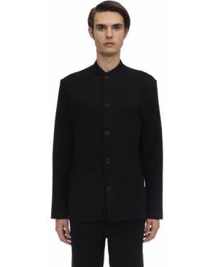 Czarna kurtka wełniana Falke