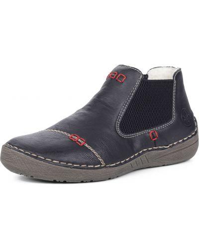 Черные кожаные ботинки челси Rieker