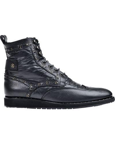Ботинки осенние кожаные Roberto Cavalli