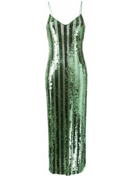 Платье с пайетками с вышивкой Galvan