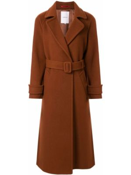 Однобортное пальто с поясом с рукавом реглан Loveless