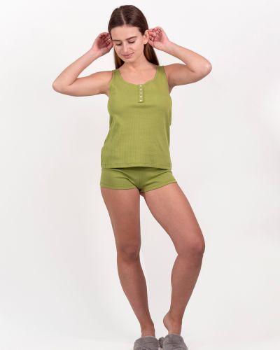 Зеленые пижамные короткие шорты на резинке Rozetka