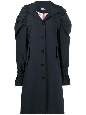 Czarny płaszcz bawełniany Karl Lagerfeld