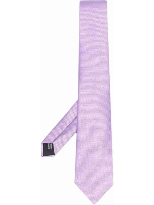 Krawat z jedwabiu - fioletowy Lanvin