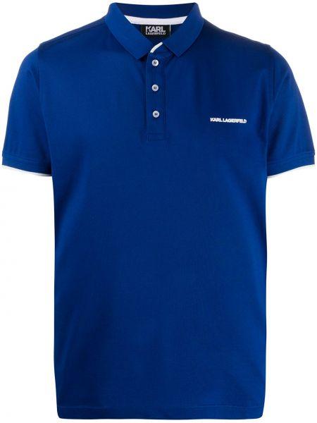Koszula krótkie z krótkim rękawem klasyczna z logo Karl Lagerfeld
