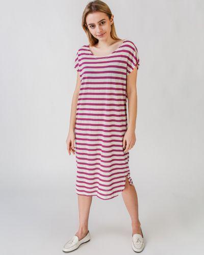 Платье в полоску с воротником Selected