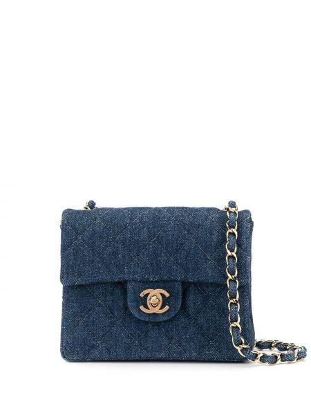 Сумка на цепочке стеганая джинсовая Chanel Pre-owned