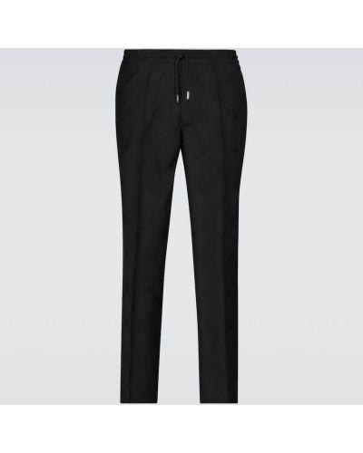 Czarne włoskie spodnie Berluti