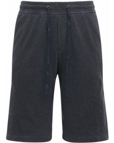 Хлопковые шорты - серые James Perse