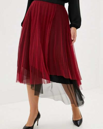Бордовая плиссированная юбка Keyra