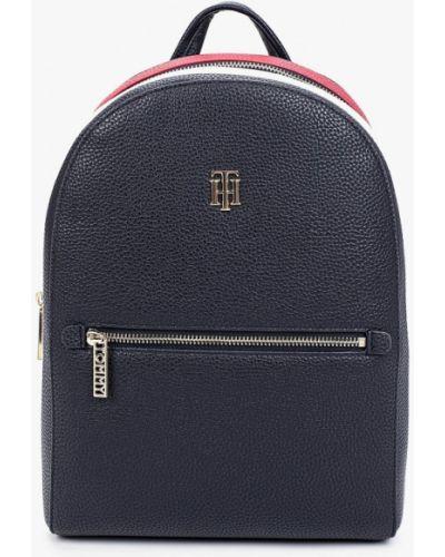 Синий городской кожаный рюкзак Tommy Hilfiger