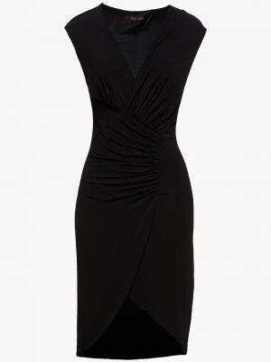 Платье с запахом - черное Roberto Cavalli