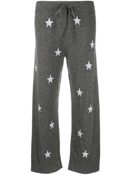 Серые кашемировые прямые брюки Chinti & Parker