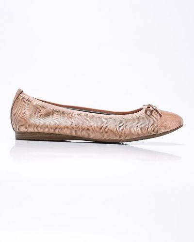 Розовые кожаные балетки Tamaris