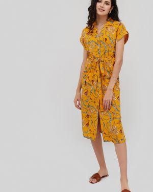 Платье из вискозы с карманами Cardo