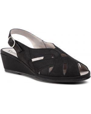 Czarne sandały Comfortabel