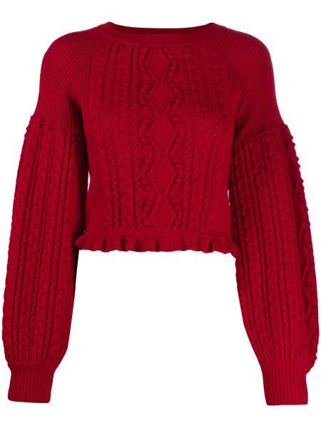 С рукавами шерстяной красный свитер Ports 1961