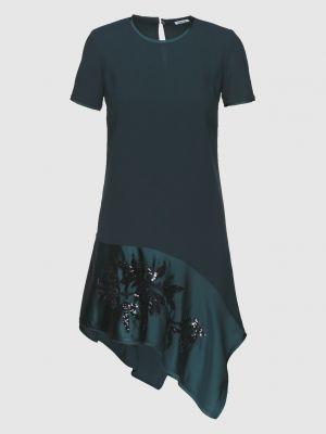 Синее платье миди с пайетками P.a.r.o.s.h.