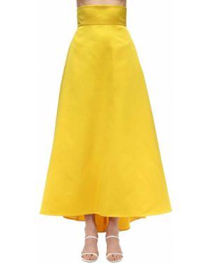 Плиссированная с завышенной талией юбка макси с карманами Sara Battaglia