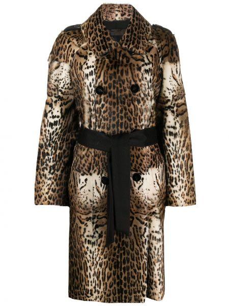 Длинное пальто с капюшоном с воротником на пуговицах Liska