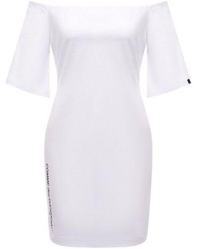 Хлопковое белое платье Comme Des Fuckdown