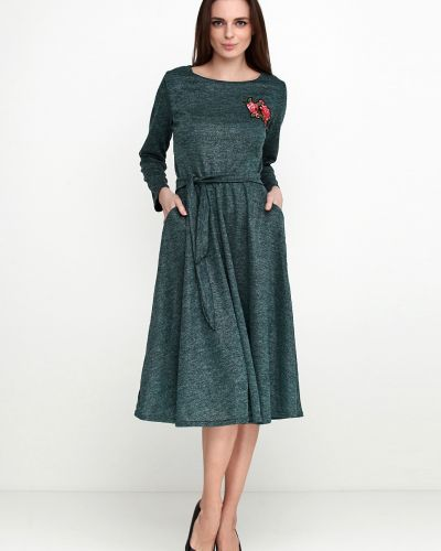 Зеленое платье с карманами Imperial