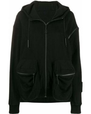 Кожаная куртка с капюшоном черная A-cold-wall*
