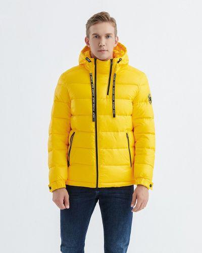 Пуховик на кнопках - желтый Snowimage