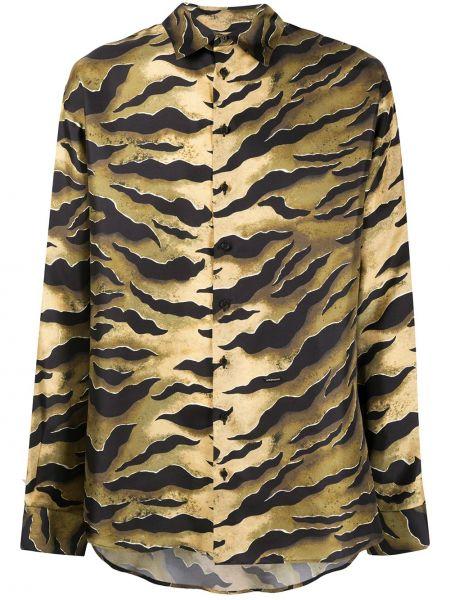 Koszula z długim rękawem klasyczna jedwab Dsquared2