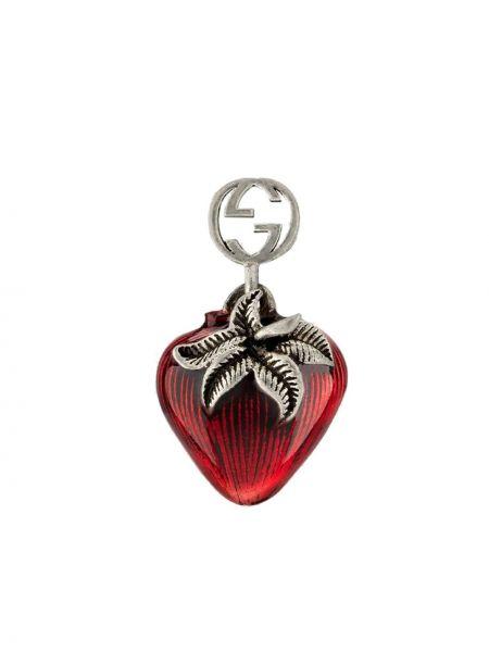 Kolczyki srebrne - szare Gucci