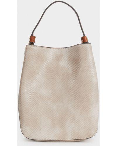 Кожаная сумка среднего размера из искусственной кожи Parfois