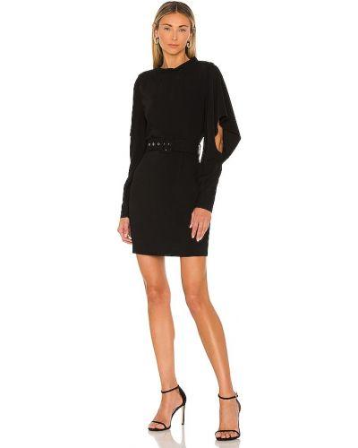Платье с разрезом - черное Elliatt