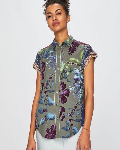 Блузка с коротким рукавом из вискозы прямая Desigual