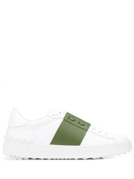 Skórzane sneakersy białe zasznurować Valentino