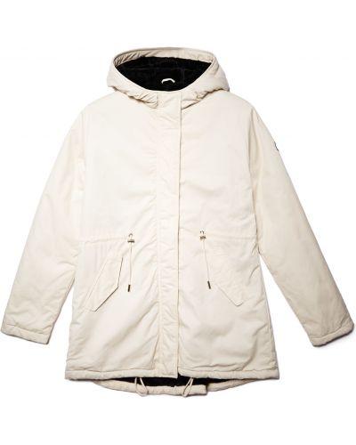 Брендовая белая куртка с подкладкой Lumberjack