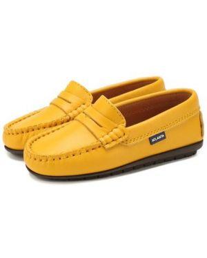 Желтые кожаные мокасины с подкладкой Atlanta Mocassin