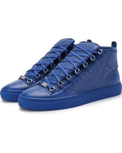Высокие кеды кожаный на шнуровке Balenciaga