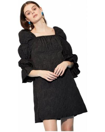 Czarna sukienka mini Ghospell